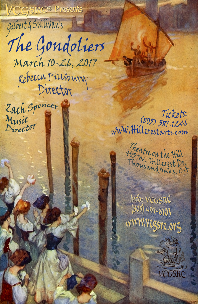The Gondoliers: March 10 through March 26, 2017